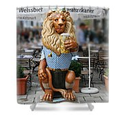 Lion Of Beer Shower Curtain