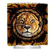 Lioness Face Shower Curtain