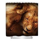 Lioness Love Shower Curtain