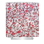 Lipstick And Eyeliner Abstract Shower Curtain
