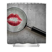 Lipstick Confessions Shower Curtain
