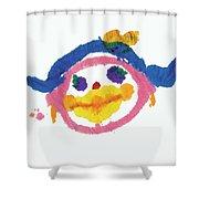 Lipstick Face Shower Curtain
