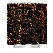 Liquid Gold Shower Curtain