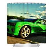 Liquid Green Shower Curtain