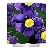 Liquid Violets Shower Curtain