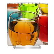 Liquor Glasses Shower Curtain