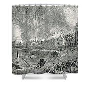 Lisbon Tsunami, 1755 Shower Curtain