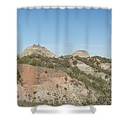Little Badlands Missouri Panorama1 Shower Curtain