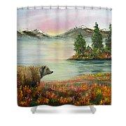 Little Bear Big World Shower Curtain