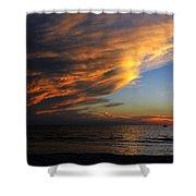Little Boat Sunset Shower Curtain
