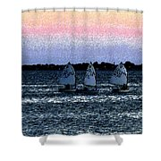 Little Boats Shower Curtain