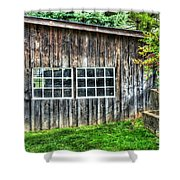 Little Brown Shed Shower Curtain