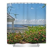 Little Harbor Tampa Bay Shower Curtain