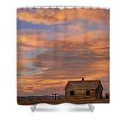 Little House On The Colorado Prairie Shower Curtain