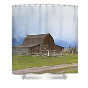 Little Mountain Barn Shower Curtain