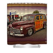 Little Old Woody Shower Curtain