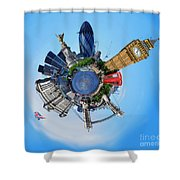 Little Planet - London Shower Curtain