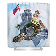 Little Planet - Manila Shower Curtain