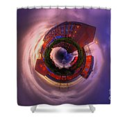 Little Planet - Suburban Sunset Shower Curtain