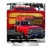 Little Red Express Dbl Hdr Shower Curtain