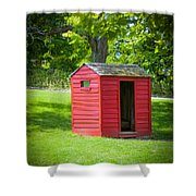 Little Red Three-seater Shower Curtain
