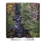 Little River - North Carolina Autumn Scene Shower Curtain