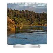 Little River Panorama Shower Curtain