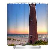 Little Sable Point Light Station Shower Curtain