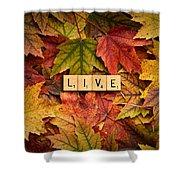 Live-autumn Shower Curtain