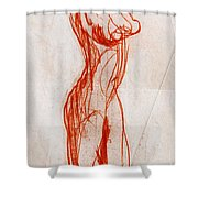 Live Model Study 1 Shower Curtain