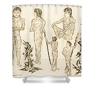Live Nude 16 Male Shower Curtain