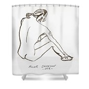 Live Nude Female No. 33 Shower Curtain