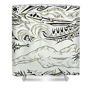 Live Nude Female No. 34 Shower Curtain