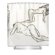Live Nude Female No. 37 Shower Curtain