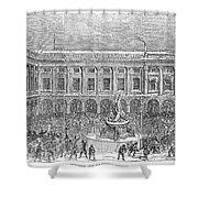 Liverpool Exchange, 1854 Shower Curtain