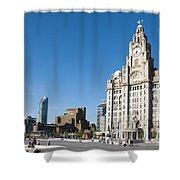 Liverpool Skyline Shower Curtain