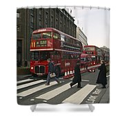 Liverpool Street Station Bus - London Shower Curtain