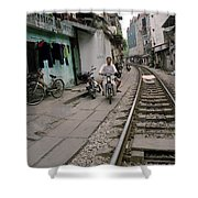 Living By The Tracks In Hanoi Shower Curtain