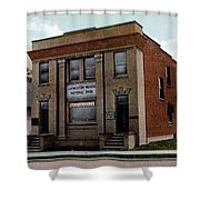 Livingston Manor Ny - National Bank Shower Curtain