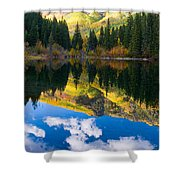 Lizard Lake Reflections Shower Curtain