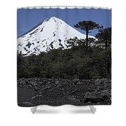 Llaima Volcano, Araucania Region, Chile Shower Curtain