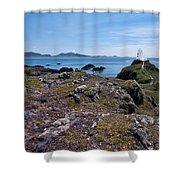 Llanddwyn Island Shower Curtain by Meirion Matthias