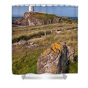 Llanddwyn Rock Shower Curtain