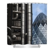 Lloyds Of London And The Gherkin Building Shower Curtain