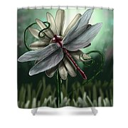 Ll's Dragonfly Shower Curtain