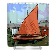 Lobster Boat Shower Curtain