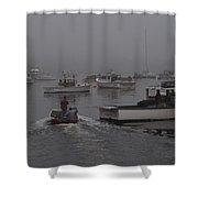 Lobstermen To Work Shower Curtain