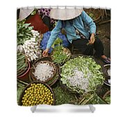 Local Farmers Selling Their Crop Shower Curtain