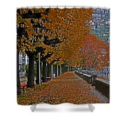 Locarno In Autumn Shower Curtain