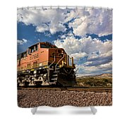 Loccomotive To The Sky Shower Curtain